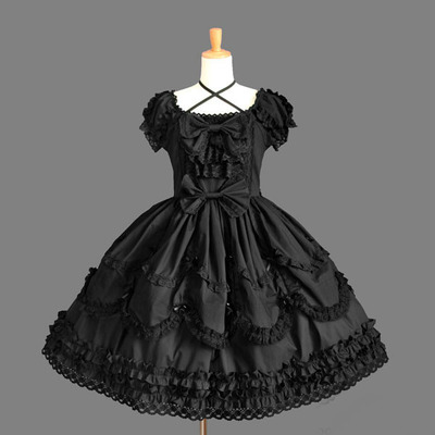 A38 uzun kolsuz tatlı lolita kısa dress balo fantezi balo dress halloween party masquerade kostüm